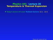 PHY 101 Lecture 26