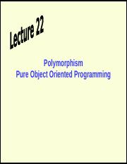 _Polymorphism Pure Object Oriented Programming