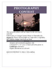 Carroll_Nonny_ Lab1-2 Photography Contest Flyer
