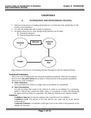 Chapter-8-estimation & Hypothesis Testing.doc