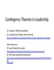 LTB - Contingency Theories (Ch 4) - HANDOUT