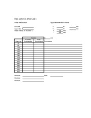 lab 1 data collection sheet