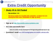 Extra Credit Opportunity 9&10
