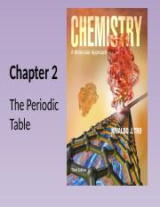 Chapter 2 - 2. The Periodic Table