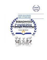 BSBADM502 Learner Workbook.docx