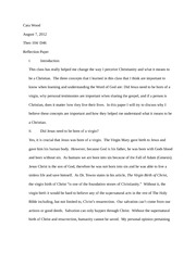 CWood_Reflection Paper