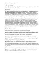 CELLBIO 201 Spring 2014 Section 1 Discussion Guide