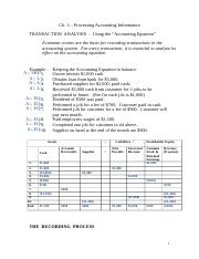 Accounting 229 Chapter 3 notes