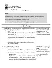 Expository essay outline expository essay outline directions 1