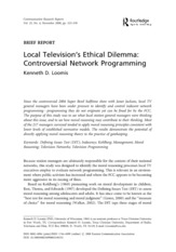 Local Television's Ethical Dilemma - Controversial Network  Progamming-1