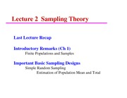 ST 432 Lecture 2