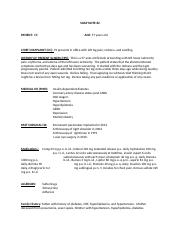 SOAP Note 7 Cellulitis docx - SOAP NOTE#2 PATIENT ER AGE 57 years