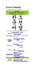 KOREAN LANGUAGE AND CULTURE.doc
