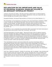 DECLARATION ON THE IMPORTANCE AND VALUE OF UNIVERSAL MUSEUMS: SINGULAR FAILURE OF AN ARROGANT.pdf