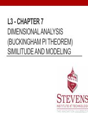 L3 - Chapter 7 Buckingham Pi Theorem_ with notes.pdf