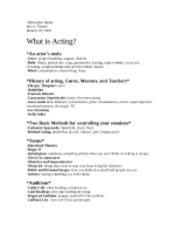 What is acting