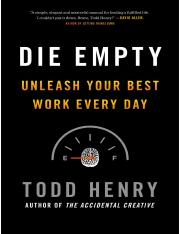 Die Empty (unleash your best work every day) .pdf