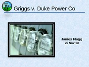 """griggs vs duke power The term """"disparate impact"""" was first used in the 1971 supreme court case  griggs v duke power company the court ruled that, under title."""