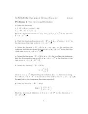 Problems 3 2019-20 (Problem Sheet 3 The Directional Derivative).pdf