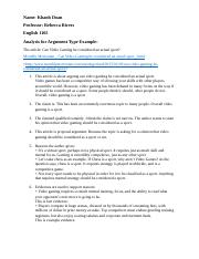 Analysis for Argument Type Example.docx