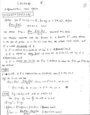 Lecture 8, basic concept of Differenciation and Linear Algebra-Math for Economist