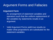 6.6 Argument Forms and Fallacies