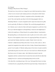what i changed northanger abbey essay