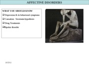 Depression & affective disorders Fall 2008