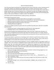 Discussion Board Guidelines PSY 350