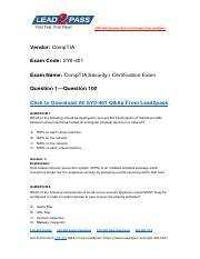 Updated Lead2pass CompTIA SY0-401 Braindump Free Download (1-100).pdf