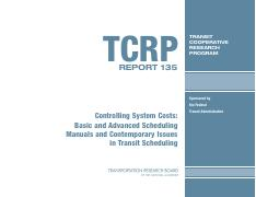 7 - TCRP Report 135 on Scheduling