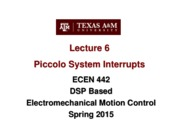 Lecture 6 Interrupts (2-9-15)