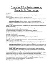 Chapter 17 – Performance, Breach and Discharge.docx