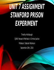Unit 7 Assignment Stanford Prison Experiment