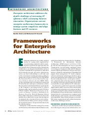 Frameworks for Enterprise Archtecture-IEEE-ITPro-2007