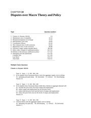 chap019 Disputes over Macro Theory and Policy