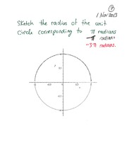 MATH 105 Fall 2013 Radians and the Unit Circle Lecture Notes