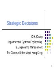 strategic decisions(1)