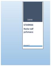 Monitor staff performance Assessment 3.docx