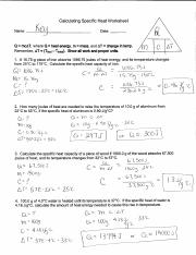 Specific Heat Calculations KEY - Calculating Specific Heat Worksheet ...