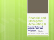Financial and Managerial Accounting 8