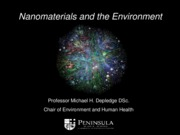 Nanomaterials and the Environment