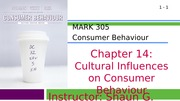MARK 305-Fall 2014-Chapter 14