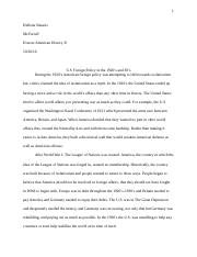 U.S. Foreign Policy Essay