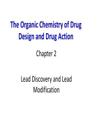 Lecture 2 Part2 The Organic Chemistry Of Drug Design And Drug Action Chapter 2 Lead Discovery And Lead Modification Lead Optimization Pharmacodynamics Course Hero