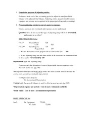 Principles of Accounting I Chapter 4 Notes