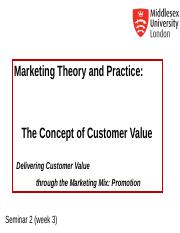 MKT1120 Seminar 2 Customer Value.ppt