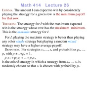 Lecture 26 on Linear Programming
