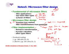 Notes5_microwave filter design.pdf