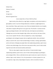 Research Argument Essay Final Draft